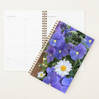 Happiness Planner Violets and Daisies