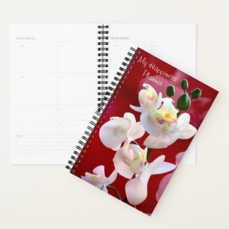Happiness Planner White Orchids