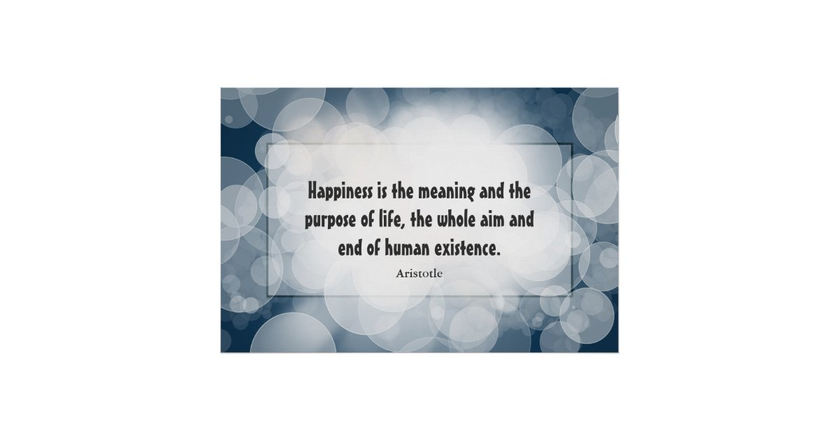 Happiness Poster: Aristotle Poster | Zazzle