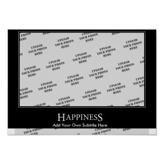 Happiness Poster Motivational Template