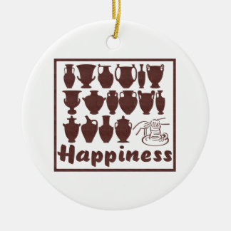 Happiness: Pottery Ornament