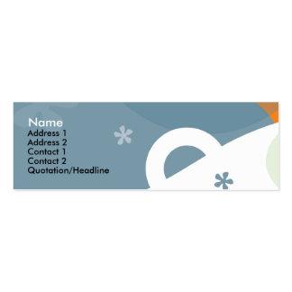 Happiness Profile Card Mini Business Card