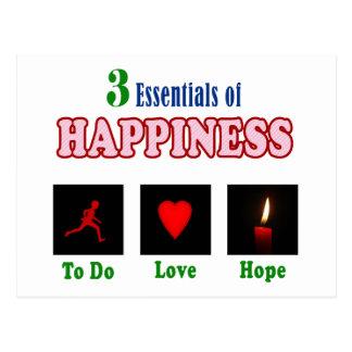Happiness psychology postcard