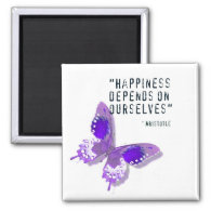Happiness Purple Butterfly Magnet