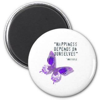 Happiness Purple Butterfly Fridge Magnet