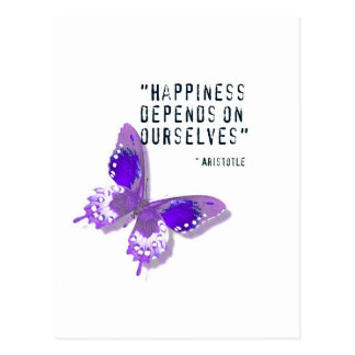 Happiness Purple Butterfly Post Card
