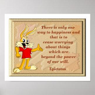Happiness Quote - art print