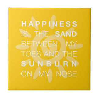 Happiness Sand & Sun Tile