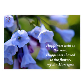 Happiness shared is the flower business card