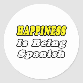 Happiness...Spanish Classic Round Sticker