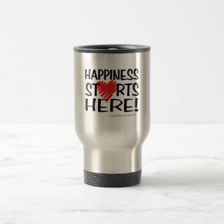 Happiness Starts Here! Travel Mug