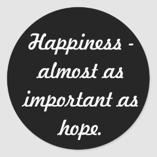 Happiness Classic Round Sticker