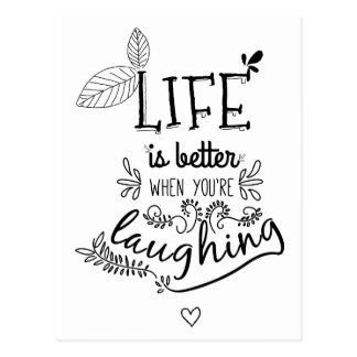 Happiness, Success, Attitude, Hello Motivational Postcard