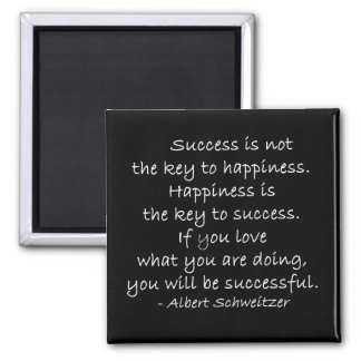 Happiness & Success Quote Magnet