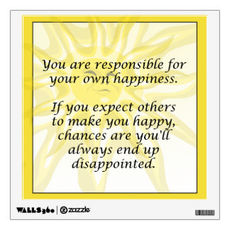 Happiness Sunshine Quote Wall Decal