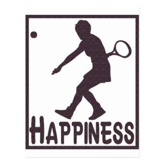 Happiness: Tennis Postcard