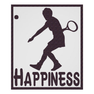 Happiness Tennis Poster