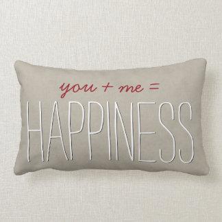 HAPPINESS Text Design TAN Custom Sentiment A03 Lumbar Pillow