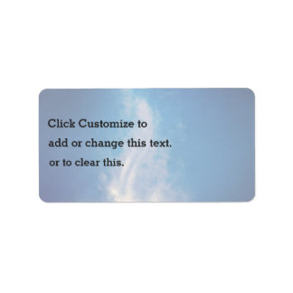 Happiness Themed, Overhead Sky Shows A Stratus Clo Address Label