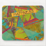 Happiness triangles collage mousepad
