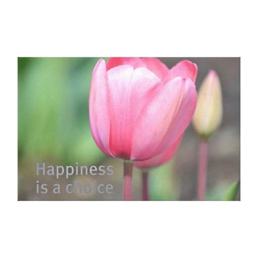 Happiness Tulips Gallery Wrap Canvas