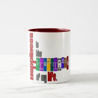 Happiness - Two-Tone Mug