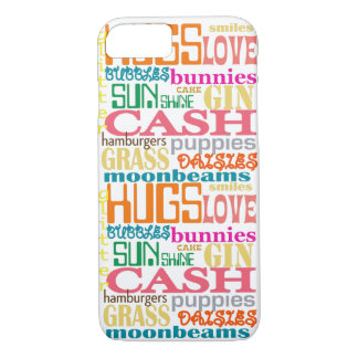 happiness typography iphone case for iPhone 7