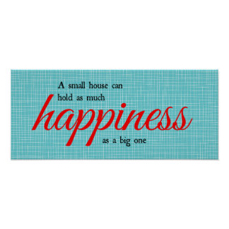 Happiness typography poster