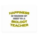 Happiness .. Waking Up .. Biology Teacher Postcard