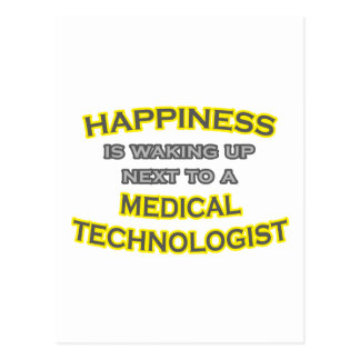 Happiness .. Waking Up .. Medical Technologist Postcard