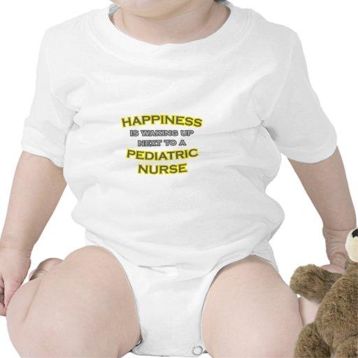 Happiness .. Waking Up .. Pediatric Nurse T Shirts