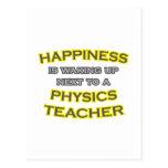 Happiness .. Waking Up .. Physics Teacher Postcard