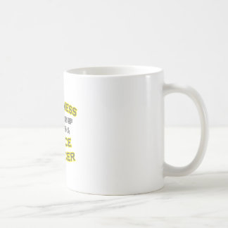 Happiness .. Waking Up .. Police Officer Classic White Coffee Mug