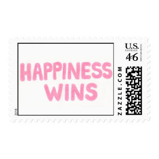 Happiness Wins Postage Stamp