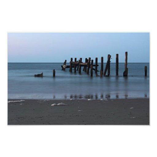 Happisburgh Beach Groynes Photo Print