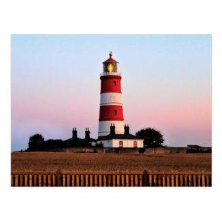 Happisburgh lighthouse shining postcard