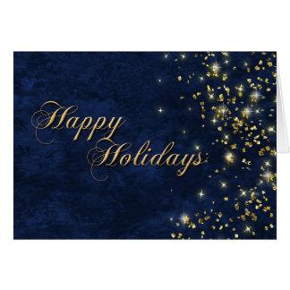 Happly Holidays Greeting Card - SMD Blue & Gold