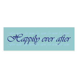 Happpily Ever After (for now) Pack of 20 bookmarks Double-Sided Mini Business Cards (Pack Of 20)