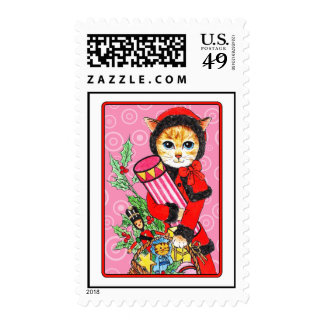 Happpy Christmas shopping Postage Stamp