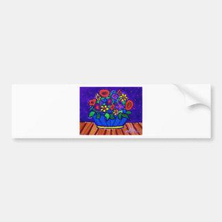 Happt Flowers by Piliero Car Bumper Sticker