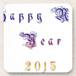 Happu New Year 2015 Hakuna Matata wishes.png Beverage Coasters
