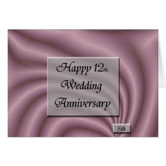 Happy12th. Aniversario de boda Tarjeta De Felicitación