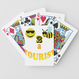 happy2bee a tourist. bicycle playing cards