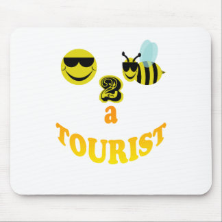 happy2bee a tourist. mouse pad