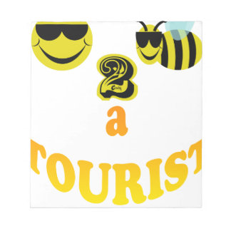 happy2bee a tourist. notepad