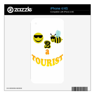 happy2bee a tourist. skin for the iPhone 4S