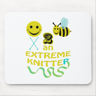 happy2bee an extreme knitter mouse pad