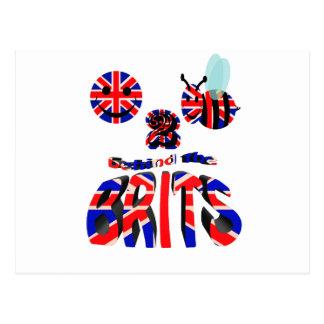 happy2bee behin the brits postcard