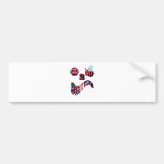 happy2bee british bumper sticker