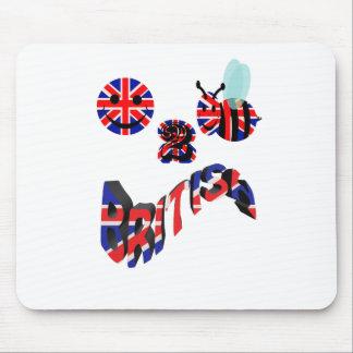 happy2bee british mouse pad